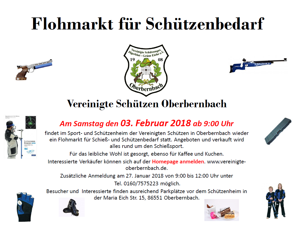 Flyer Schützenflohmarkt